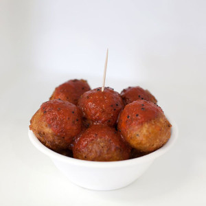 Kofta Balls (with Tomato Chutney)