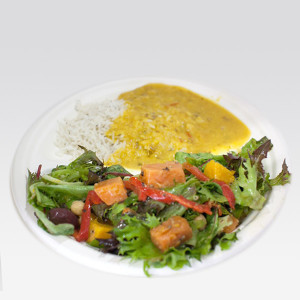 Krishna's Combo (Rice and dahl plus one salad OR Rice and curry plus one salad)