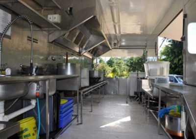 Inside the mobile kitchen
