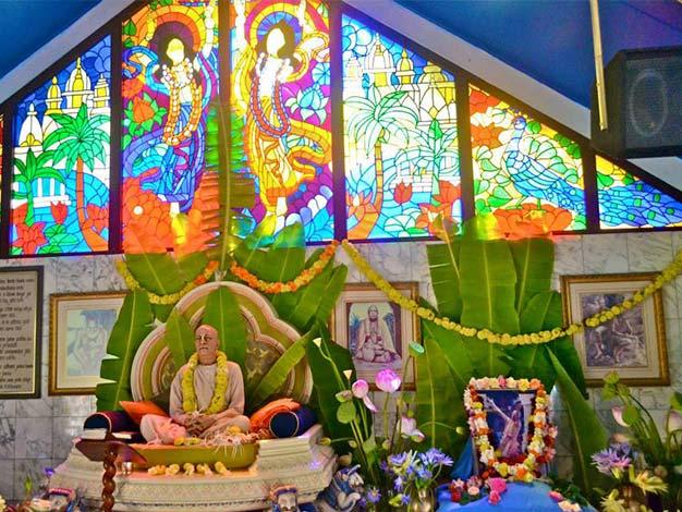Srila Prabhupada in the temple room