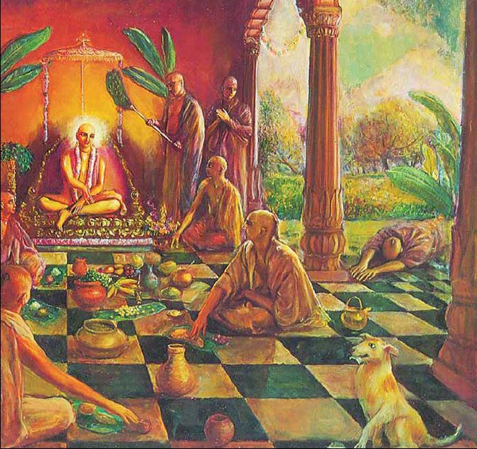 Lord Chaitanya instructs that prasadam be shared with all.